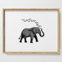 Cute Elephant Gift Print Elephants Wildlife Kids Adult Tee Serving Tray