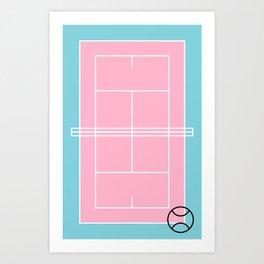 Court / Tennis Art Print