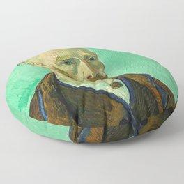 Vincent van Gogh - Self-Portrait Dedicated to Paul Gauguin Floor Pillow