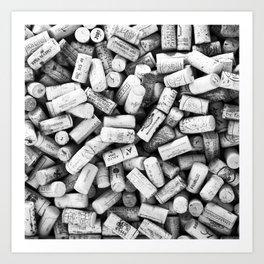 Something Nostalgic II Twist-off Wine Corks in Black And White #decor #society6 #buyart Art Print