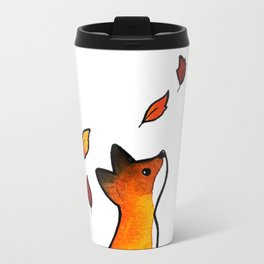 The Fox in The Leaves Travel Mug