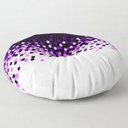 Flat Tech Camouflage Reverse Purple Floor Pillow
