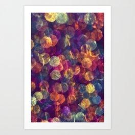 kaleidoscope rainbow Art Print