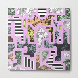 Paint Segregation - Abstract, geometric, multi patterned pop art Metal Print