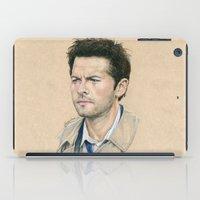 castiel iPad Cases featuring Castiel by Stormwolf Studios