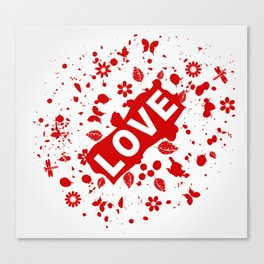 Love abstraction Canvas Print