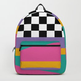 Checkered pattern grid / Vintage 80s / Retro 90s Backpack