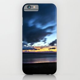 Nocturnal Cloud Spectacle on Danish Sky iPhone Case