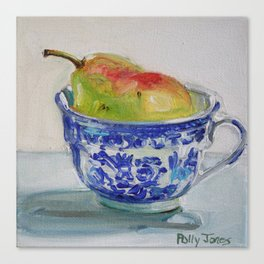 A Cup of Pear Canvas Print