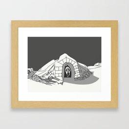 The Killer in the Igloo Framed Art Print