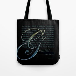 Sign Language for Gemini Tote Bag