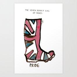 Sins of shoes - pride Art Print
