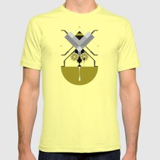 Fly on lime Mens Fitted Tee LARGE Lemon