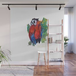 RED PARROT Wall Mural
