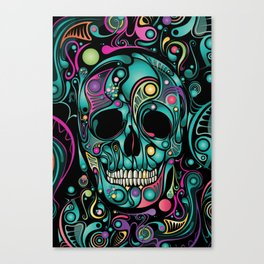 Skull Camouflage Canvas Print