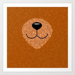 Teddy Bear Nose and Mouth Art Print