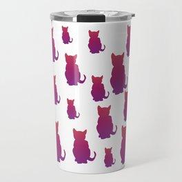 Faded Cat Travel Mug