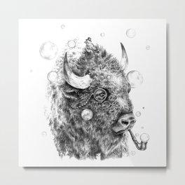 Buffalo Detective Metal Print