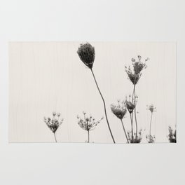 Minimalist Queen Anne's Lace in Silhouette Rug