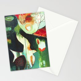 """""""Inner Whisper #2"""" Original Painting by Flora Bowley Stationery Cards"""