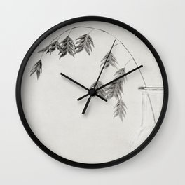 winter oat grass Wall Clock
