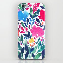 hand painted flowers_3a iPhone Skin