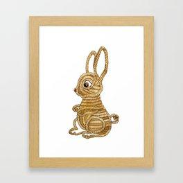 Rope Bunny Framed Art Print