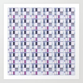 Uvas-Cuadricula  Art Print