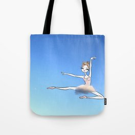Sweet Ballerina up in the sky with a cloud tutu Tote Bag