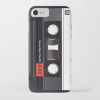 cassette iPhone & iPod Cases featuring Cassette by Life Is Real