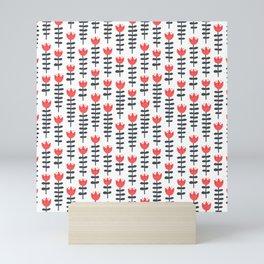 red flowers pattern Mini Art Print