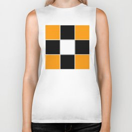 Team Color 3 ...black and Orange Biker Tank