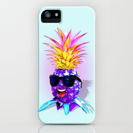 Pineapple Ultraviolet Happy Dude with Sunglasses iPhone Case