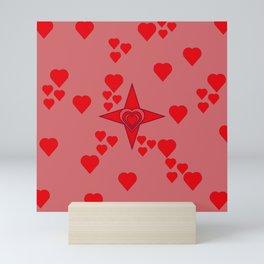 Red hearts Mini Art Print