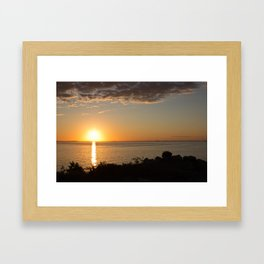 Ocean Sunset 2 Framed Art Print