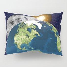 Earth Moon and Sun Pillow Sham