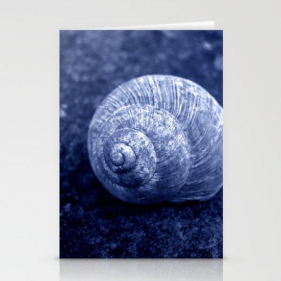 blue snail shell Stationery Cards