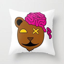 Brain Drain  Throw Pillow