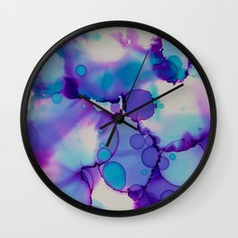 Purple and blue Wall Clock