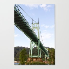 St John's Bridge Portland Canvas Print