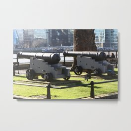 Canon at the Tower Of London Metal Print