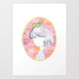 Heart to create gaiety to,fragrant spring. Art Print
