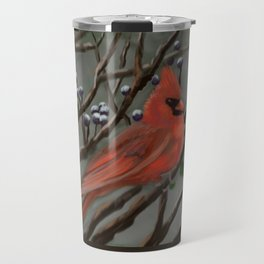 Male Cardinal DP151210a-14 Travel Mug