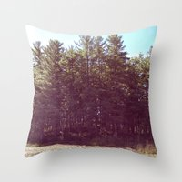 manchester Throw Pillows featuring Manchester Swamps by katarjana