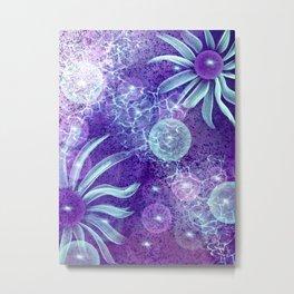 Colorful Cosmic Blooms Metal Print