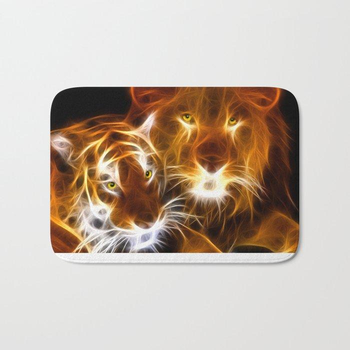 tiger lion  Bath Mat