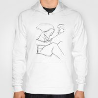 erotic Hoodies featuring Erotic Lines Two by Holden Matarazzo