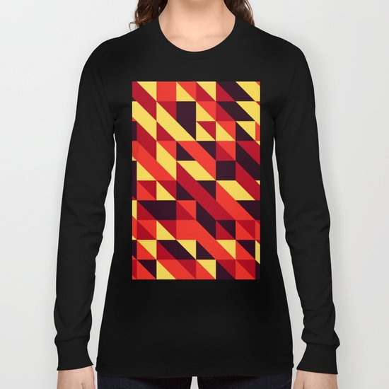triangle lines Long Sleeve T-shirt