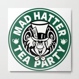 Mad Hatter Tea Party Metal Print