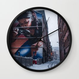 The Crunch Under Your Foot. Wall Clock